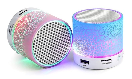 Mini Portable Bluetooth LED Speaker in Choice of Colour from AED 59 (Up to 74% Off)
