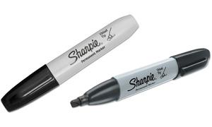 Sanford Sharpie Black Chisel-Tip Permanent Marker (12-Pack)