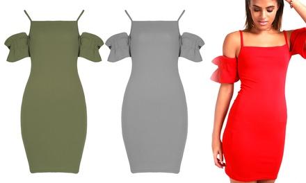 Be Jealous Strappy RuffleSleeved Mini Dress