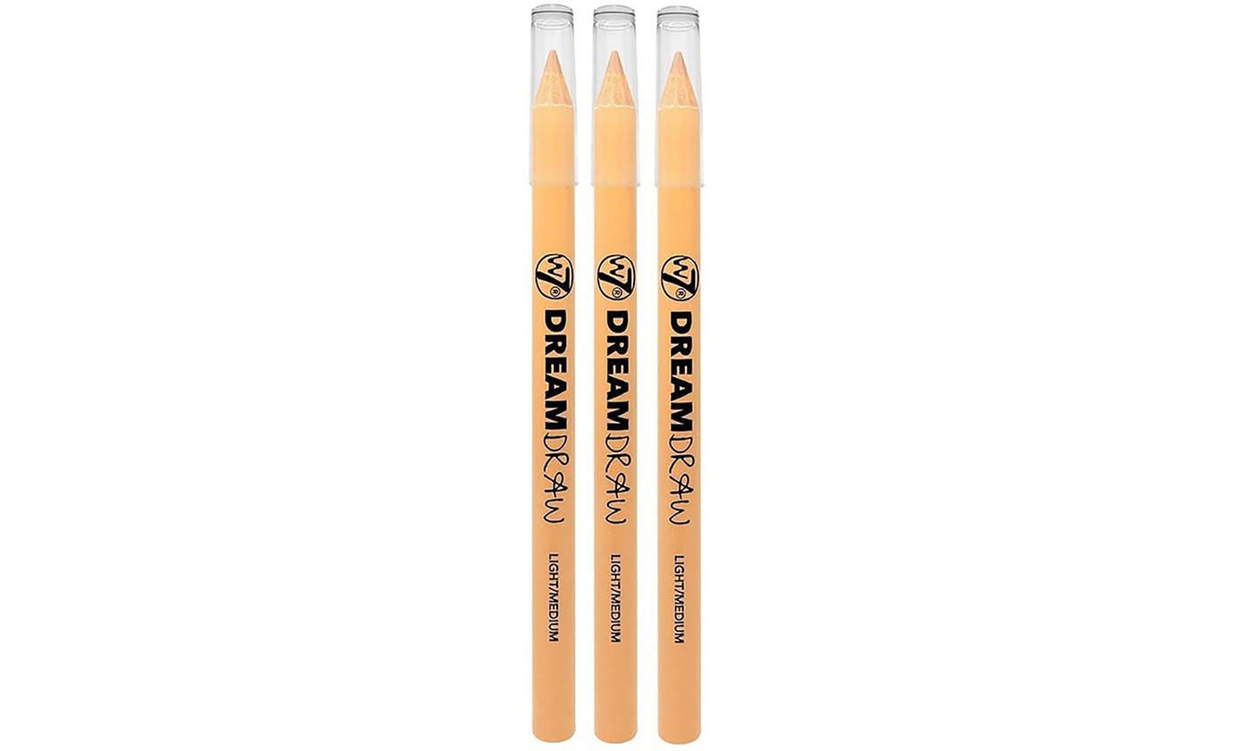 W7 Dream Draw Three-in-One Concealer, Lip Liner and Eye Brightener Pencil Three-Pack