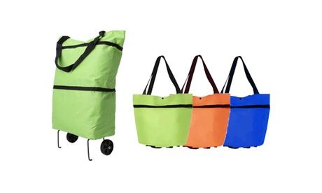 Carro y Bolsa de compra plegable 2 en 1 con ruedas disponible en varios colores (envío gratuito)