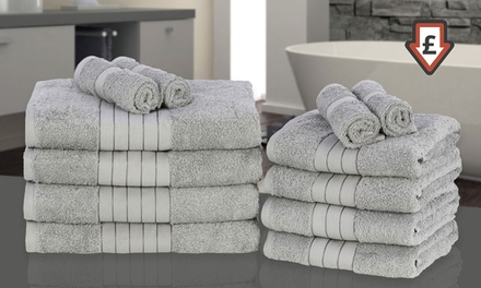 12-Piece 500gsm Egyptian Cotton Towel Bale in Choice of Colour