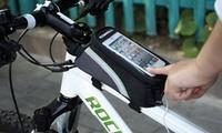 Compartimento de bici con soporte para smartphone
