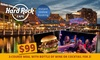 Hard Rock Cafe - Sydney - Hard Rock Cafe - Sydney: 3-Course Meal with Bottle of Wine or Cocktail for 2 ($99) or 4 People ($198) at Hard Rock Cafe - Sydney (Up to $313.60)