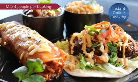 TwoCourse Mexican Dinner for Two $35 or Four People $69 at Montezuma's Surfers Paradise Up to $151.92