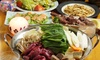 東京都/新宿 ≪蝦夷鹿肉の串焼き・和風鍋など8品+飲み放題180分≫