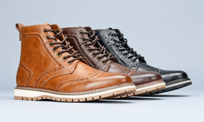 Casual Wingtip Boots