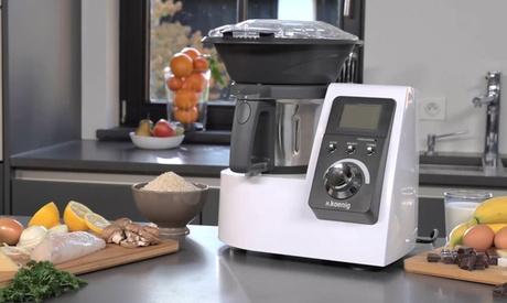 Ce robot culinaire de marque H. Koenig permet de réaliser des séries de recettes en un tour de main
