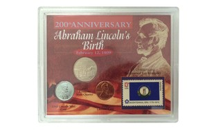 200th Anniversary of Abraham Lincoln Birth Coin and Stamp Collection