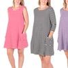 Women's Striped Mini Dresses