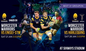 Worcester Warriors: Worcester Warriors Rugby Match, Child or Adult Ticket, 21 and 28 January, Sixways Stadium (Up to 40% Off)