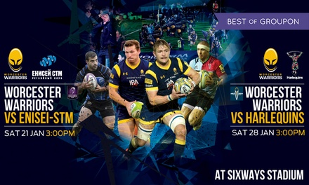 Worcester Warriors Rugby Match, Child or Adult Ticket, 21 and 28 January, Sixways Stadium (Up to 40% Off)