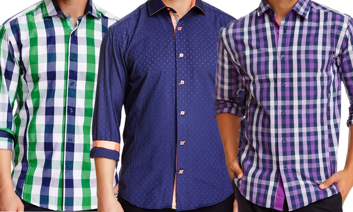 Bespoke Men's Long-sleeve Shirts | Groupon Goods