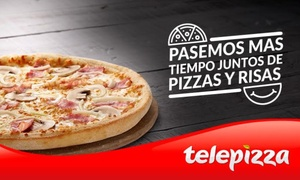 Telepizza: Telepizza: pizza mediana o familiar masa fina con el humor de Comedy Central desde 5,95€