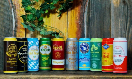 24 500ml Cans of Assorted German Beer With Free Delivery