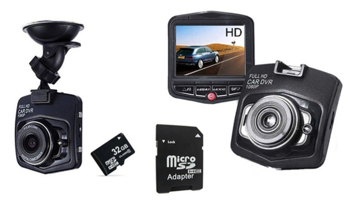 Groupon Goods Global GmbH: Full HD 1080p Dashboard Car Accident Camera with Optional 32GB SD Card