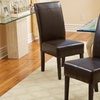 Bonded Leather Accent Chairs (Set of 2)