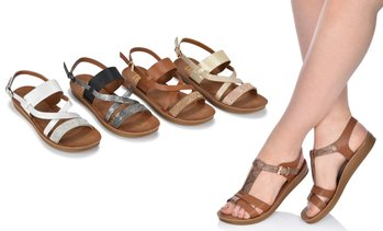 Olive Street Assorted Comfort Flat Sandals | Groupon Exclusive