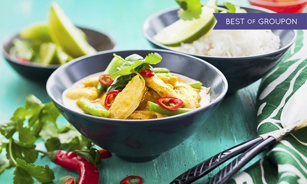 TwoCourse Thai Meal With Prawn Crackers and Side for Two or Four at Crazy Wendy's
