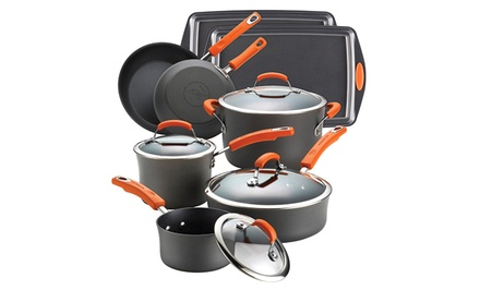Rachael Ray Hard-Anodized II Dishwasher-Safe 12-Piece Cookware Set