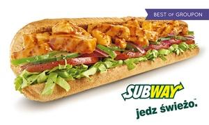 Subway: Dowolna 15-centymetrowa kanapka za 7,90 zł i więcej opcji w Restauracji SUBWAY® – 2 lokalizacje