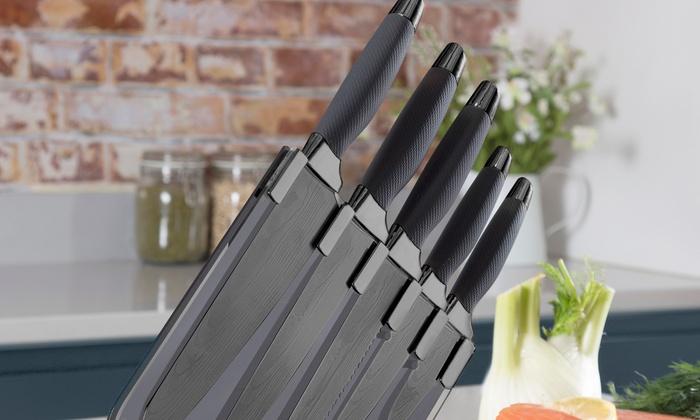 tower 5 piece knife set groupon goods. Black Bedroom Furniture Sets. Home Design Ideas