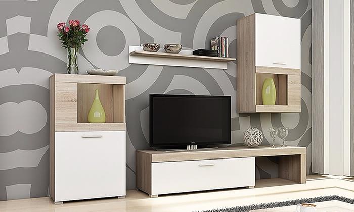 Tv Meubel Bovenkast.Tot 60 Op Complete En Moderne Wandunit Groupon Producten