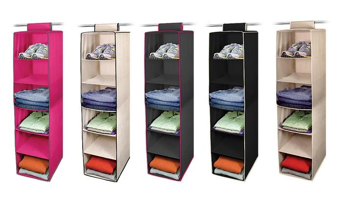 6 Shelf Hanging Closet Organizer: 6 Shelf Hanging Closet Organizer ...
