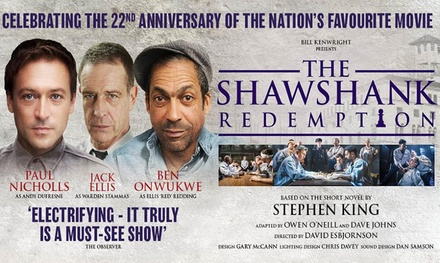 One Ticket to The Shawshank Redemption, Churchill Theatre, Bromley, 31 October - 3 November (Up to 42% Off)