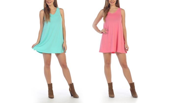 Women's Scoop-Neck Tank Dress