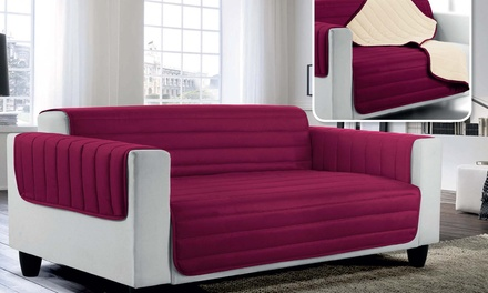 Hypoallergenic Quilted Sofa Cover in Choice of Colour and Size