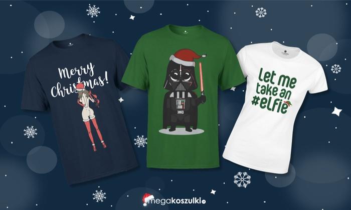 7813b2c580a275 Koszulka ze świątecznym nadrukiem - Megakoszulki.pl   Groupon