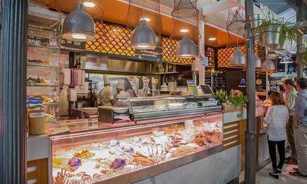 Menú de pescado frito variado para 2 personas con 2 copas de sangria o de tinto de verano por 22,99€ en La Pescadoteca