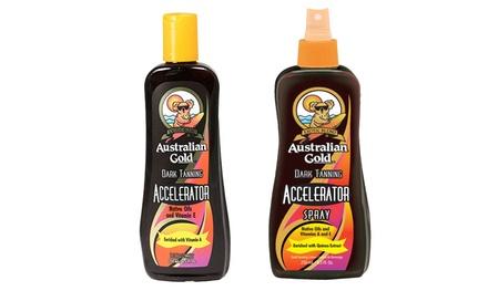 Australian Gold Dark Tanning Accelerator Lotion or Spray