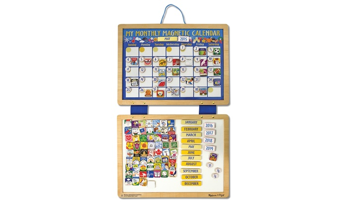 melissa doug my first monthly magnetic calendar groupon