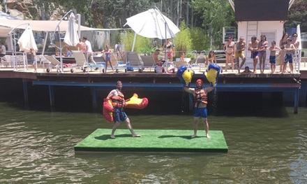 Sesión de Water Gladiator para 2 personas con opción a entrada a piscina y bebida individual desde 6,95€ en Jump to Jump