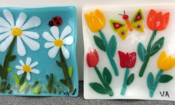 Virginia Stained Glass - Springfield Plaza Shopping Center: $49 for Two-Hour Spring-Themed Fused Glass Class at Virginia Stained Glass ($98 Value)