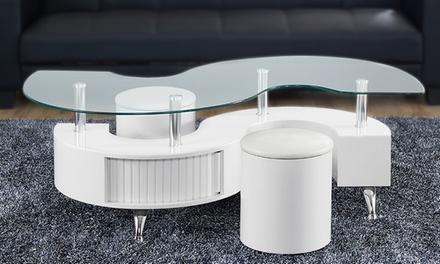 Tavolino da soggiorno Madrid con sgabelli disponibile in 5 colori a ...