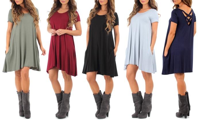 Women's Draped Tunic Dress