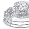 0.68 CTTW Diamond Bridal Ring Set in 10K White Gold