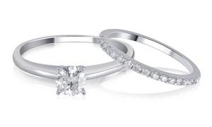 Certified Diamond Bridal Set by Brilliant Diamond