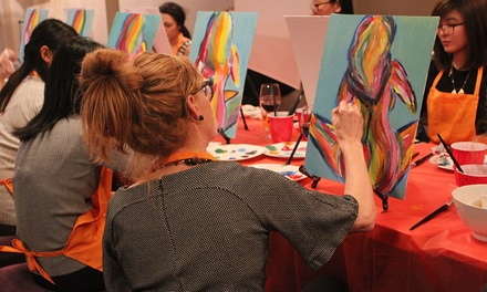 TwoHour Social Painting Class One $29, Two $55 or Ten People $230 at Paint for Fun Melbourne Up to $650 Value