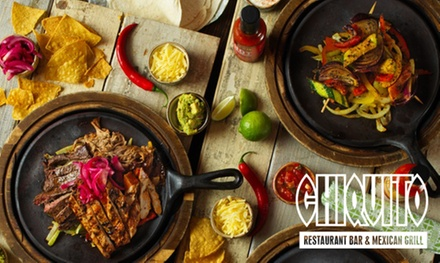 TwoCourse TexMex Meal for Two at Chiquito's, Nationwide