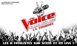 Tournée The Voice: 1 place pour la tournée ''The Voice'', catégorie au choix, le 30 juin 2017 à 20h, dès 17,50 € au Zénith de Rouen