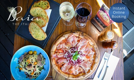 Two-Course Meal with Wine for Two ($39) or Four People ($75) at Baia The Italian (Up to $196 Value)