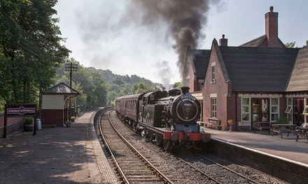 Churnet Valley Railway: Green or Blue Timetable Family Ticket with Rides
