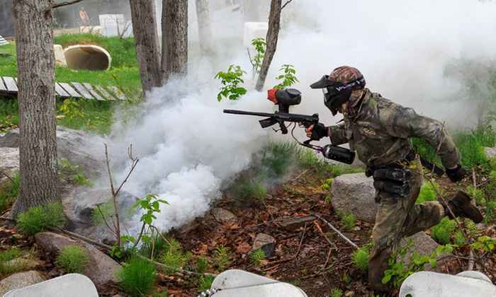Day of Paintballing or 1 Hour of MousseBall or Bow and Arrow Tag at Paintball Mirabel (Up to 63% Off)