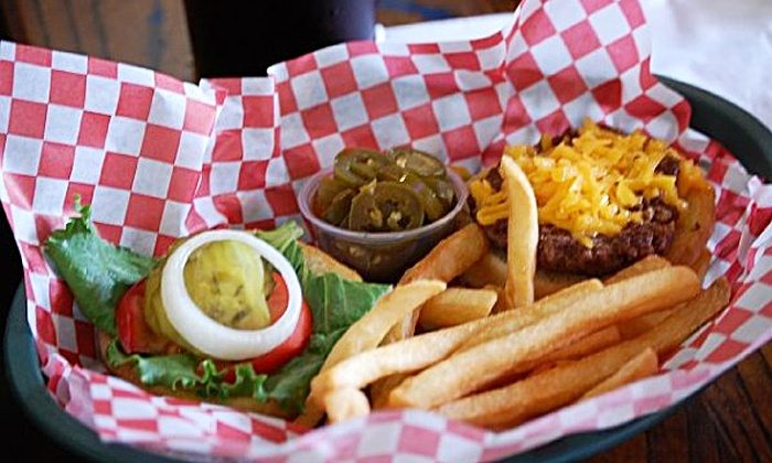 Puffabellys Old Depot Restaurant - Spring: Pub Food or Music-and-Dinner Package at Puffabellys Old Depot Restaurant (50% Off). Four Options Available.