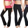 2-Pack of Women's Contrast Waistband Flared Yoga Pants
