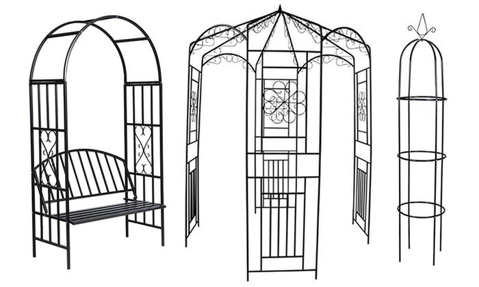 arche de jardin pour plantes grimpantes groupon. Black Bedroom Furniture Sets. Home Design Ideas
